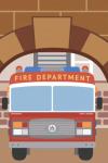 Пожарная машина и дракон